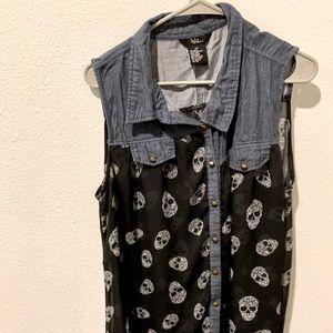 3/$15  Denim & Sheer, Black & Skulls Alternative